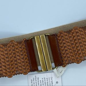 Ann Taylor Loft Braided Leather Belt with Elastic